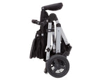 Delta Children Black on Silver (2401) Jeep Brand Sport Utility All-Terrain Stroller, Folded View