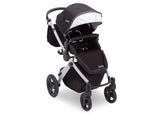 Delta Children Black on Silver (2401) Jeep Brand Sport Utility All-Terrain Stroller, Right Silo View