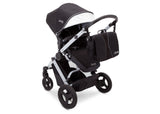 Delta Children Black on Silver (2401) Jeep Brand Sport Utility All-Terrain Stroller, Top Carriage View