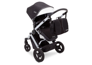 Jeep Brand Sport Utility All-Terrain Stroller by Delta Children, Black on Silver (2401) with detachable parent organizer