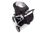 Delta Children Black on Silver (2401) Jeep Brand Sport Utility All-Terrain Stroller, Rear Top with Canopy View