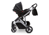 Delta Children Aqua on Silver (2403) Jeep Brand Sport Utility All-Terrain Stroller, Car Seat View