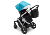 Delta Children Aqua on Silver (2403) Jeep Brand Sport Utility All-Terrain Stroller, Top Carriage View