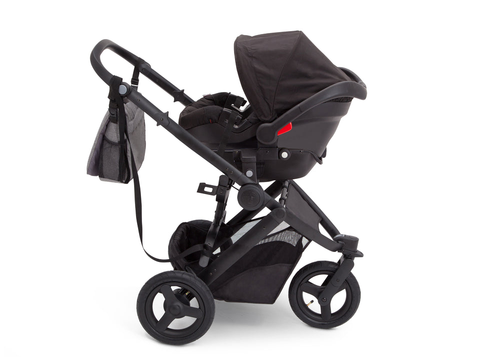 Delta Children Grey on Black (2500) Jeep Brand Sport Utility All-Terrain Jogger, Car Seat View