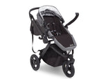 Delta Children Grey on Black (2500) Jeep Brand Sport Utility All-Terrain Jogger, Open Right Silo View