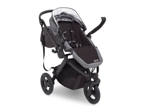 Jeep® Sport Utility All-Terrain Jogger Grey on Black (2500), Right View Adjustable handle