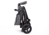 Delta Children Grey on Black (2500) Jeep Brand Sport Utility All-Terrain Jogger, Folded View