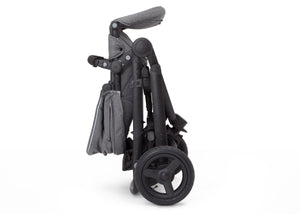 Jeep® Sport Utility All-Terrain Jogger Grey on Black (2500), Folded View