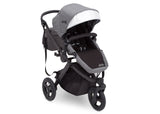 Delta Children Grey on Black (2500) Jeep Brand Sport Utility All-Terrain Jogger, Right Silo View