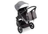 Delta Children Grey on Black (2500) Jeep Brand Sport Utility All-Terrain Jogger, Top Carriage View