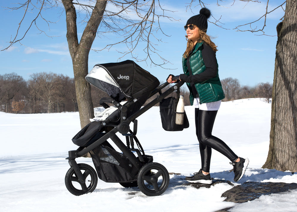 Delta Children Black on Black (2501) Jeep Brand Sport Utility All-Terrain Jogger, Lifestyle 2 View