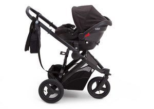 Delta Children Black on Black (2501) Jeep Brand Sport Utility All-Terrain Jogger, Car Seat View