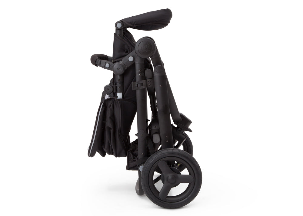 Delta Children Black on Black (2501) Jeep Brand Sport Utility All-Terrain Jogger, Folded View