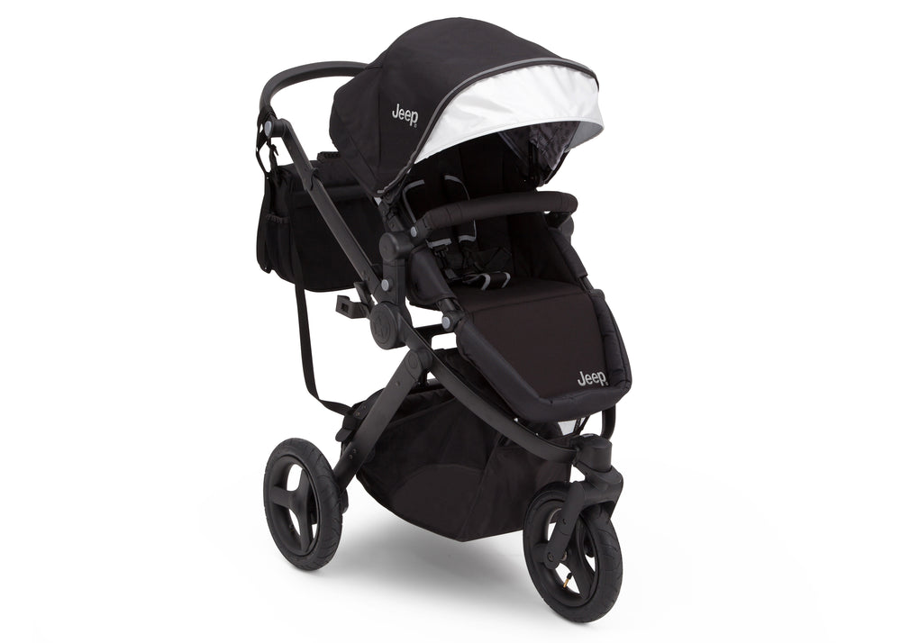 Delta Children Black on Black (2501) Jeep Brand Sport Utility All-Terrain Jogger, Right Silo View
