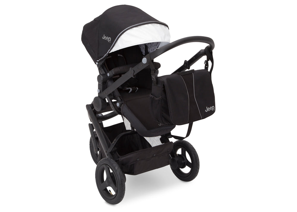 Delta Children Black on Black (2501) Jeep Brand Sport Utility All-Terrain Jogger, Top Carriage View