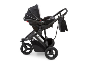 Delta Children Red on Black (2502) Jeep Brand Sport Utility All-Terrain Jogger, Car Seat View