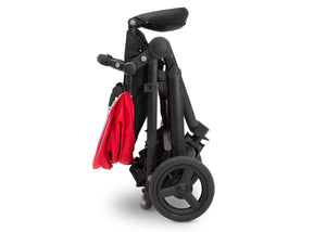 Delta Children Red on Black (2502) Jeep Brand Sport Utility All-Terrain Jogger, Folded View