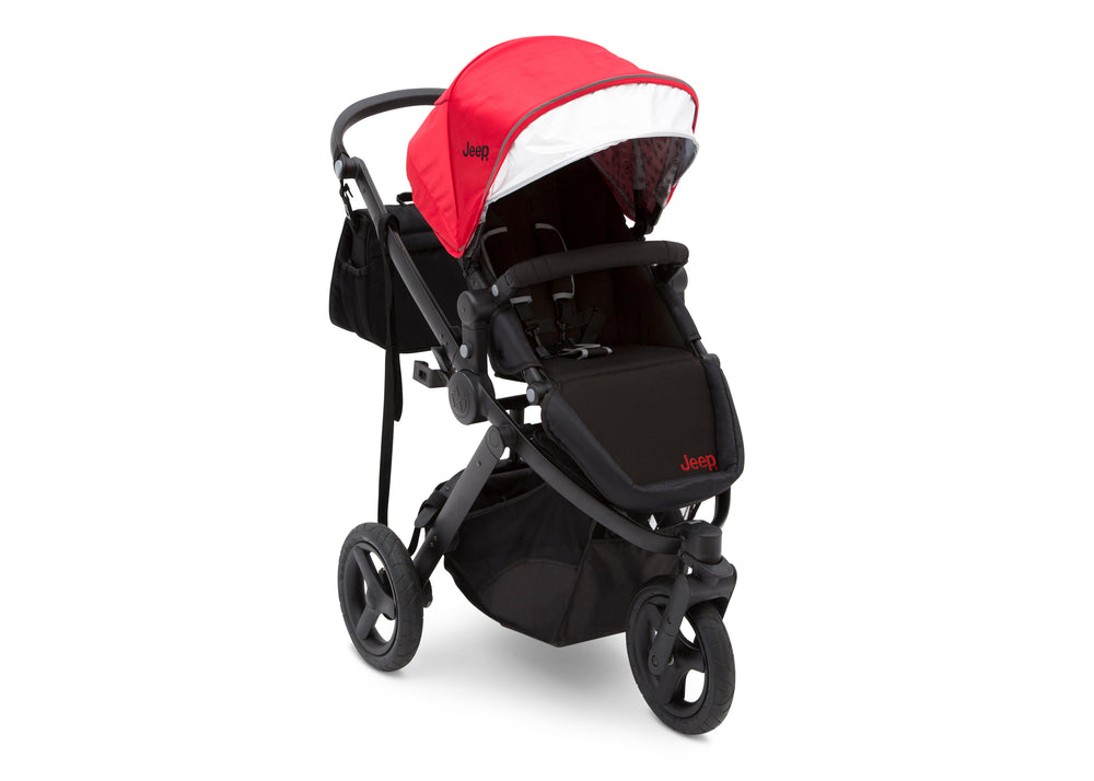 Delta Children Red on Black (2502) Jeep Brand Sport Utility All-Terrain Jogger, Right Silo View