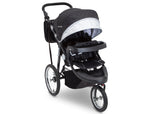 Delta Children J is for Jeep Brand Cross-Country Sport Plus Jogger, Charcoal Galaxy (2271) Right Side View, a1a