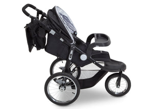 Delta Children J is for Jeep Brand Cross-Country Sport Plus Jogger, Charcoal Galaxy (2271) Side View, a3a
