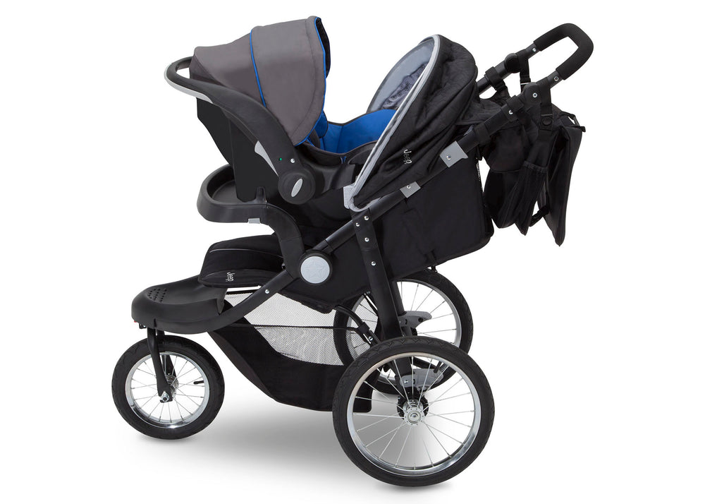 Delta Children J is for Jeep Brand Cross-Country Sport Plus Jogger, Charcoal Galaxy (2271) Full Side View, a4a