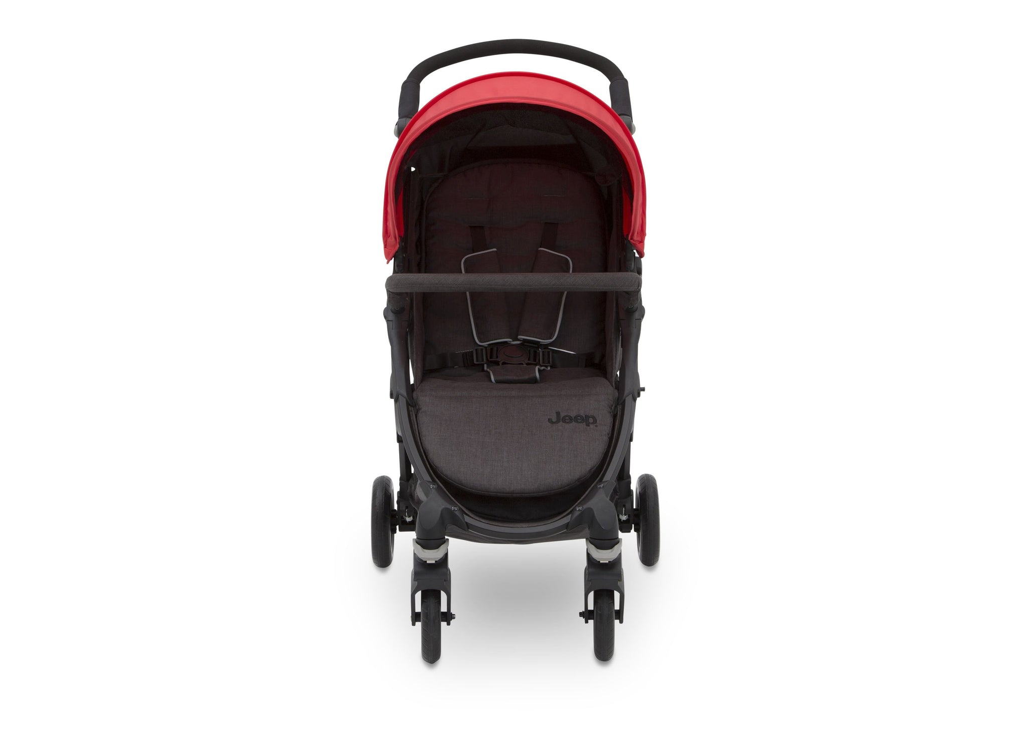 Jeep Gemini Stroller Red Stripe (2243),5-point safety harness