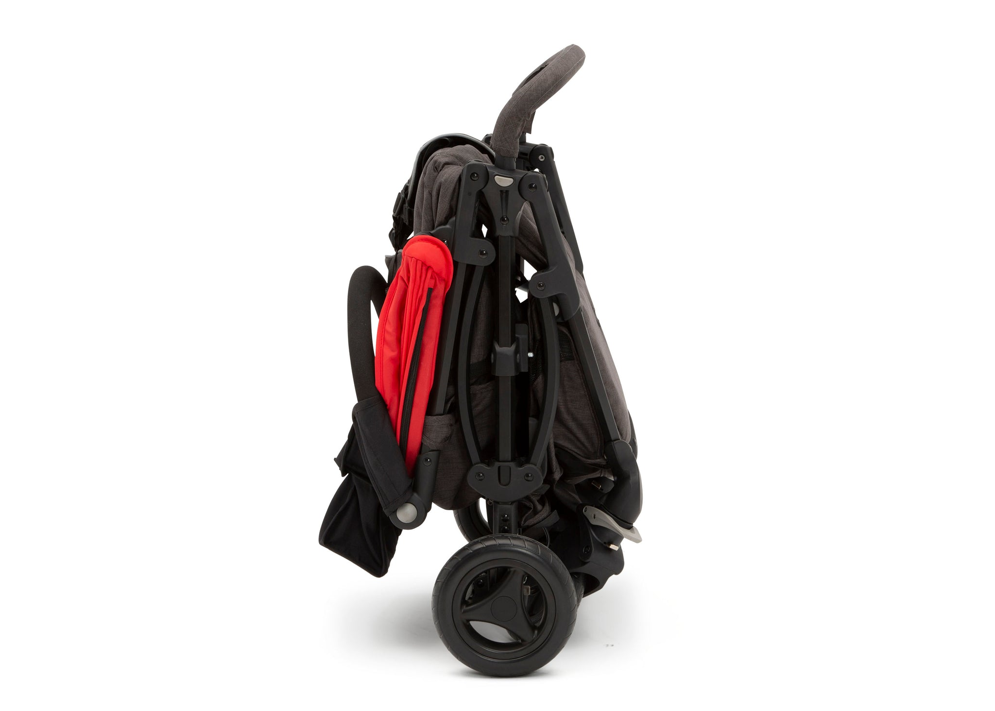 Jeep Gemini Stroller Red Stripe (2243), Folded View