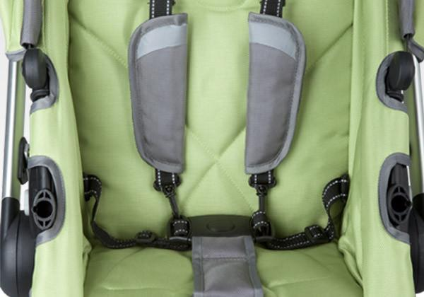 Simmons Kids Bright Green (320) Tour Buggy Stroller Seat Details View