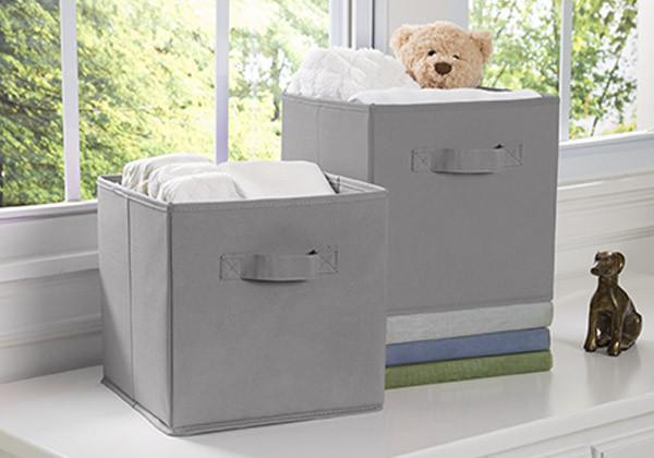 Delta Children Grey (026) 2 Storage Cubes with Setting a1a