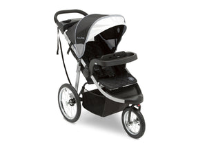 Jeep Unlimited Range Jogger by Delta Children, Trek Grey Tonal (0261) with extendable European-style canopy