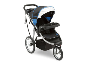 Jeep Unlimited Range Jogger by Delta Children, Trek Blue Tonal (436) with extendable European-style canopy