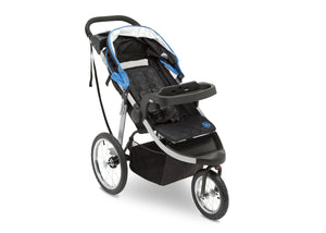 Jeep Unlimited Range Jogger by Delta Children, Trek Blue Tonal (436) with multi-position reclining padded seat