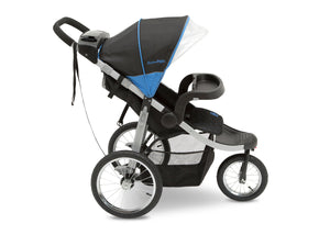 Jeep Unlimited Range Jogger by Delta Children, Trek Blue Tonal (436) with extra-large undercarriage storage bin