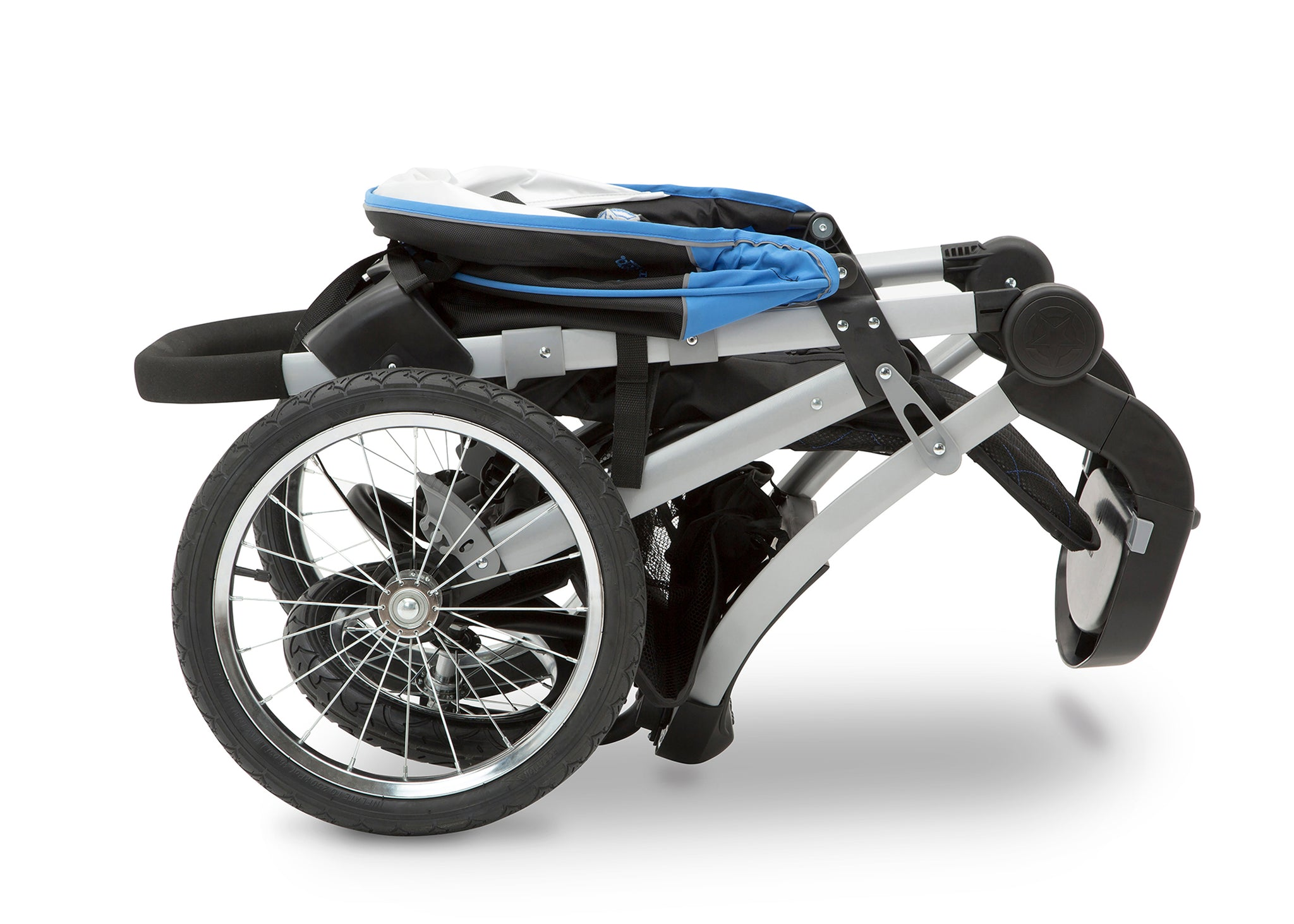 Jeep Unlimited Range Jogger by Delta Children, Trek Blue Tonal (436), can be folded quickly and compactly