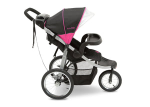 Jeep Unlimited Range Jogger by Delta Children, Trek Pink Tonal (656) with extra-large undercarriage storage bin