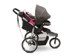 Jeep Unlimited Range Jogger Trek Pink Tonal (656) Side View with Canopy Down c4c