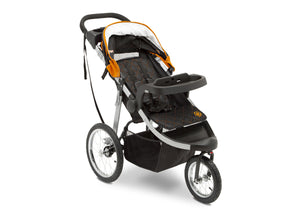 Jeep Unlimited Range Jogger by Delta Children, Trek Orange (835) with multi-position reclining padded seat
