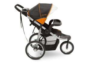 Jeep Unlimited Range Jogger by Delta Children, Trek Orange (835) with extra-large undercarriage storage bin