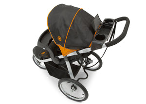 Jeep Unlimited Range Jogger by Delta Children, Trek Orange (835) with cup holders and smart phone storage