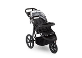 Delta Children Charcoal Tracks (0251) J is for Jeep Brand Adventure All Terrain Jogger Stroller Right Side View a3a