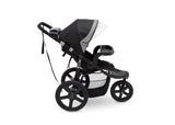 Delta ChildrenCharcoal Tracks (0251) J is for Jeep Brand Adventure All Terrain Jogger Stroller Full Right Side View b4b