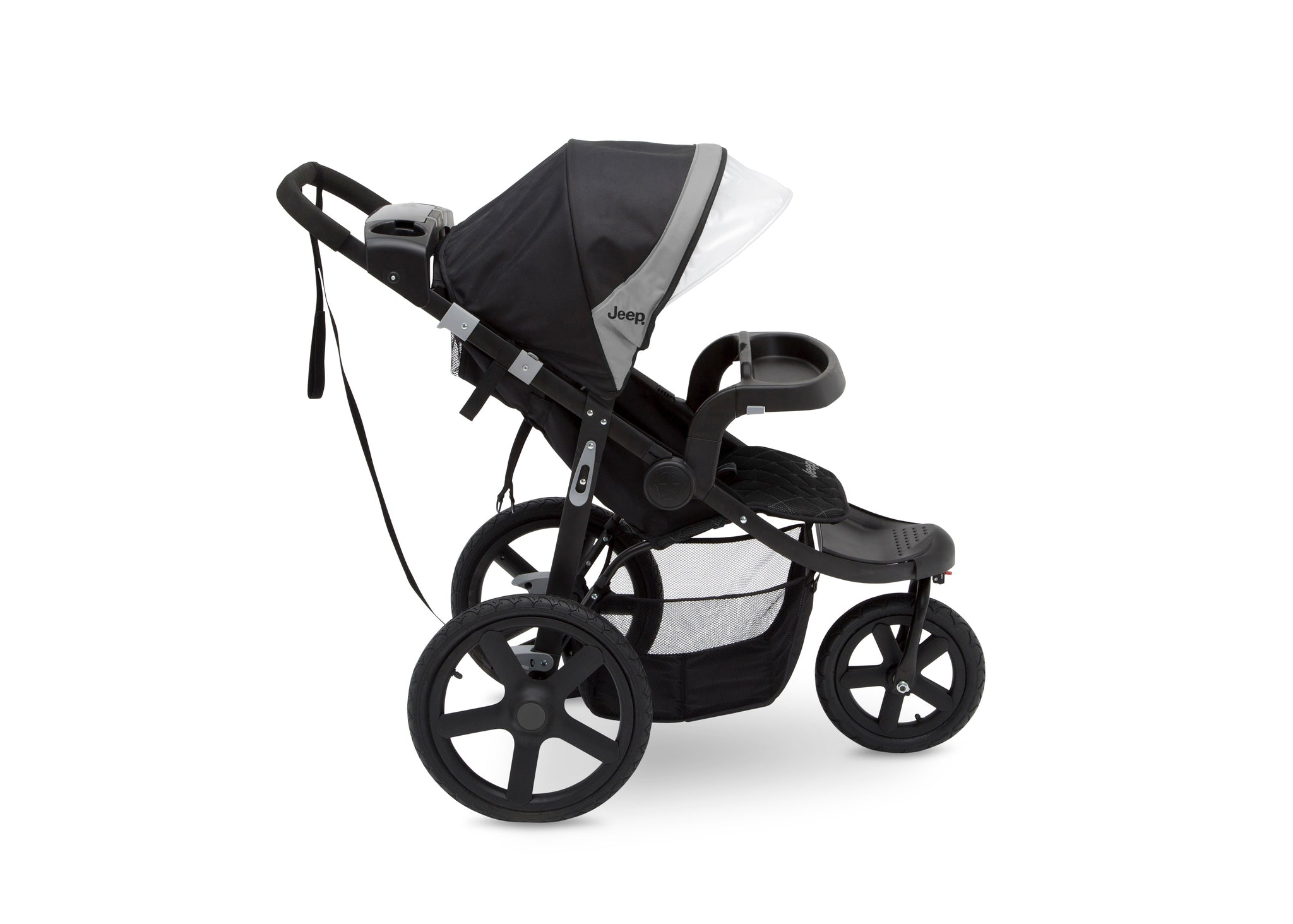 Jeep Adventure All Terrain Jogger Stroller by Delta Children, Charcoal Tracks (0251), with multi-position reclining seat