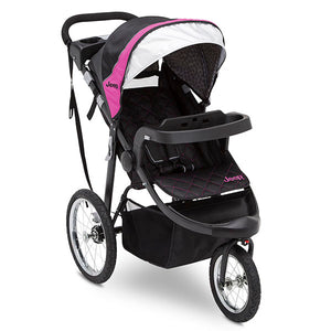Jeep® Deluxe Patriot Open Trails Jogger by Delta Children, Berry Tracks (678), Full View
