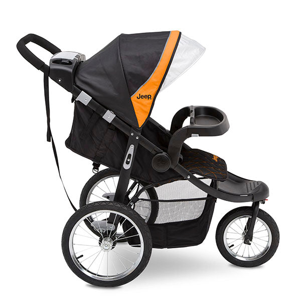 Jeep® Deluxe Patriot Open Trails Jogger by Delta Children, Galaxy (850), Extendable canopy with UPF 50+ sun
