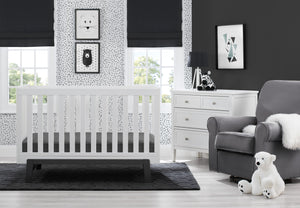 Aster 3 in 1 Crib Bianca White with Ebony (149)