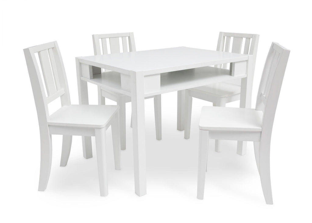 Delta Children White (100) Wood Table and Chair b2b