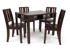 Delta Children Black Cherry Espresso (607) Wood Table and Chair a1a