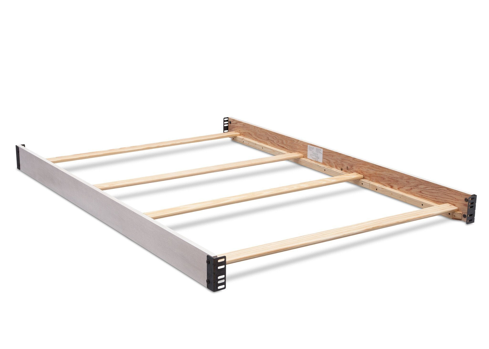 Simmons Kids Antique White (122) Full Size Wood Bed Rails (180050) b1b for Bedford 4-in-1 Convertible Crib