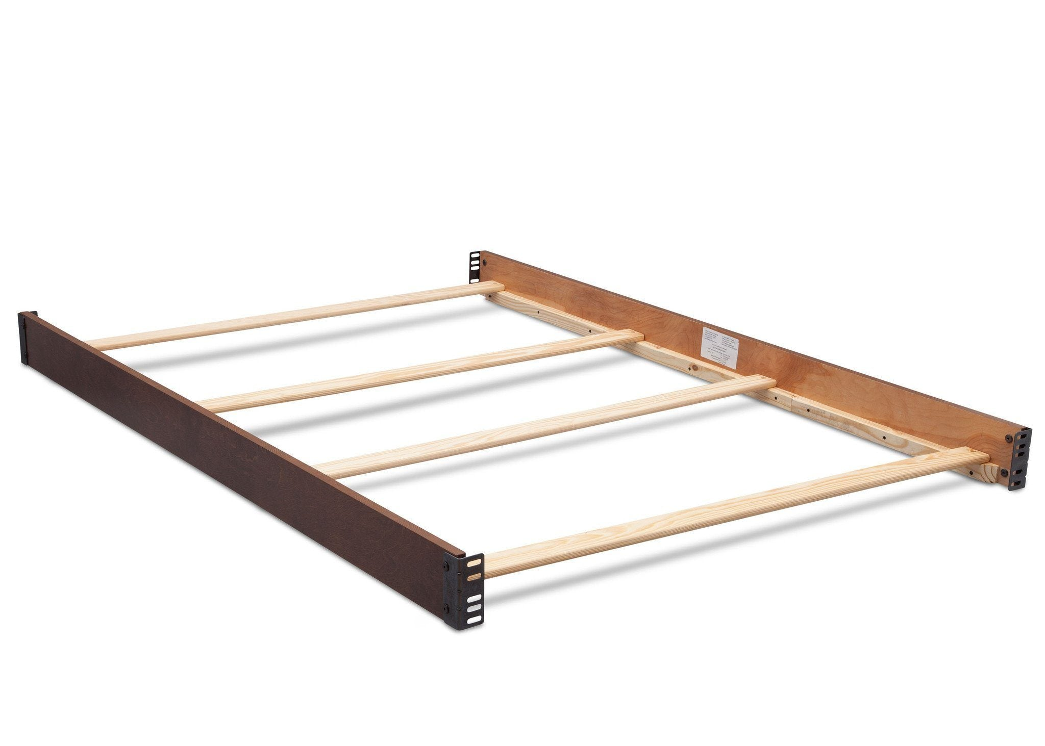 Simmons Kids Antique Chestnut (2100) Full Size Wood Bed Rails (180050) f1f for Bristol 4-in-1 Convertible Crib