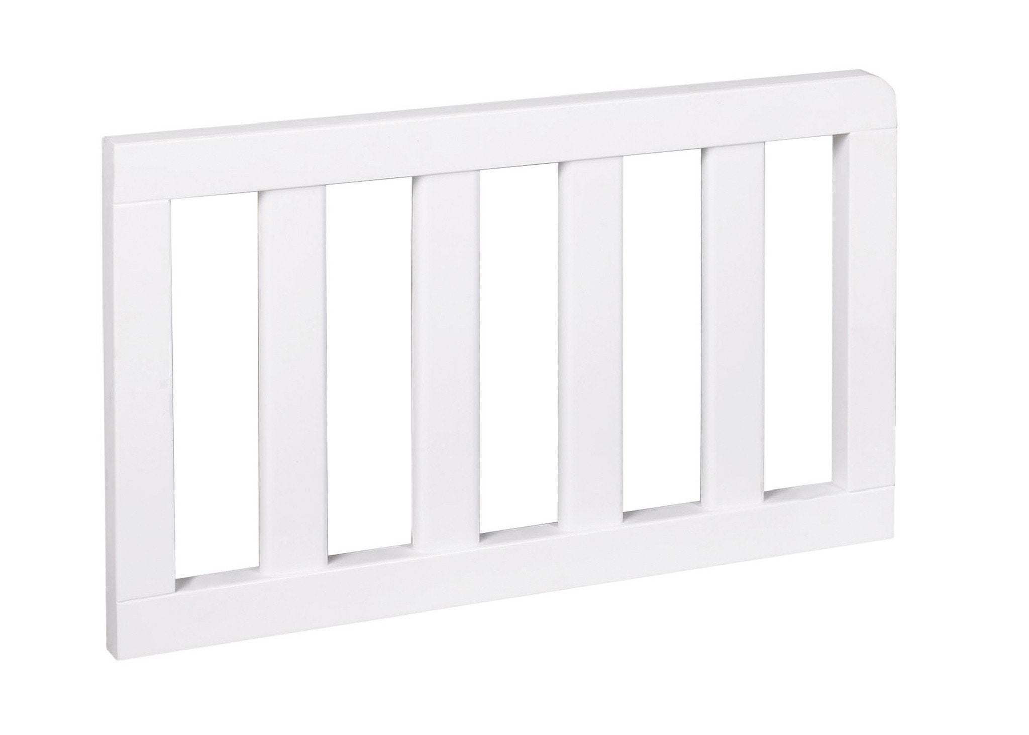 Simmons Kids White (100) Toddler Guardrail (180119) Side View b1b